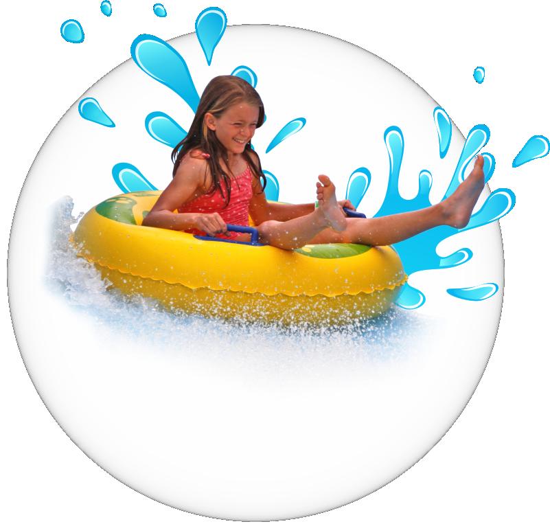 niña flotador