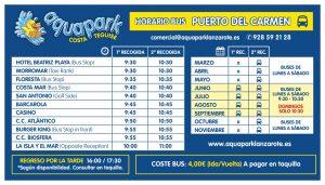 AQUAPARK - BUS PUERTO DEL CARMEN - 2018