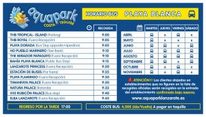 AQUAPARK bus playa blanca 2019