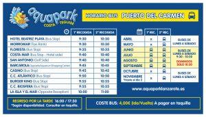 AQUAPARK bus puerto del carmen 2019