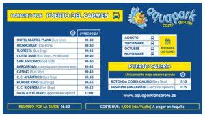 AQUAPARK bus puerto del carmen desde agosto 2020