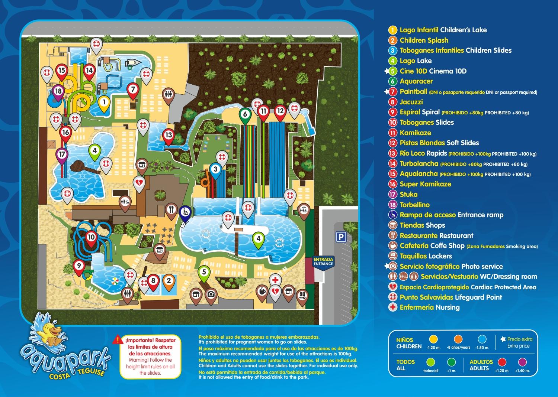 AQUAPARK - mapa parque 2020